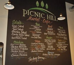Menu Board from Picnic Hill Market Cafe in Fairmount Circle